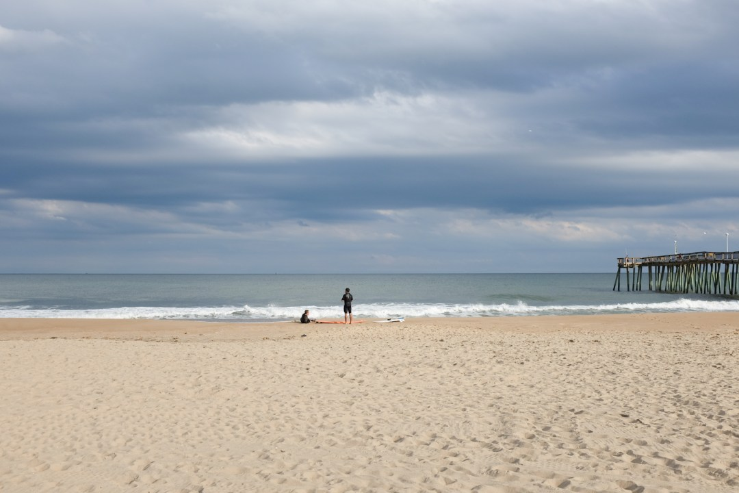 Surfers in Ocean City