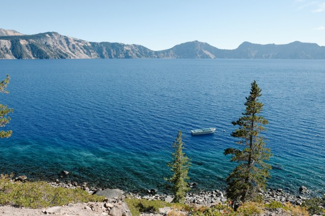 View of Crater Lake from the Cleetwood Cove Trail
