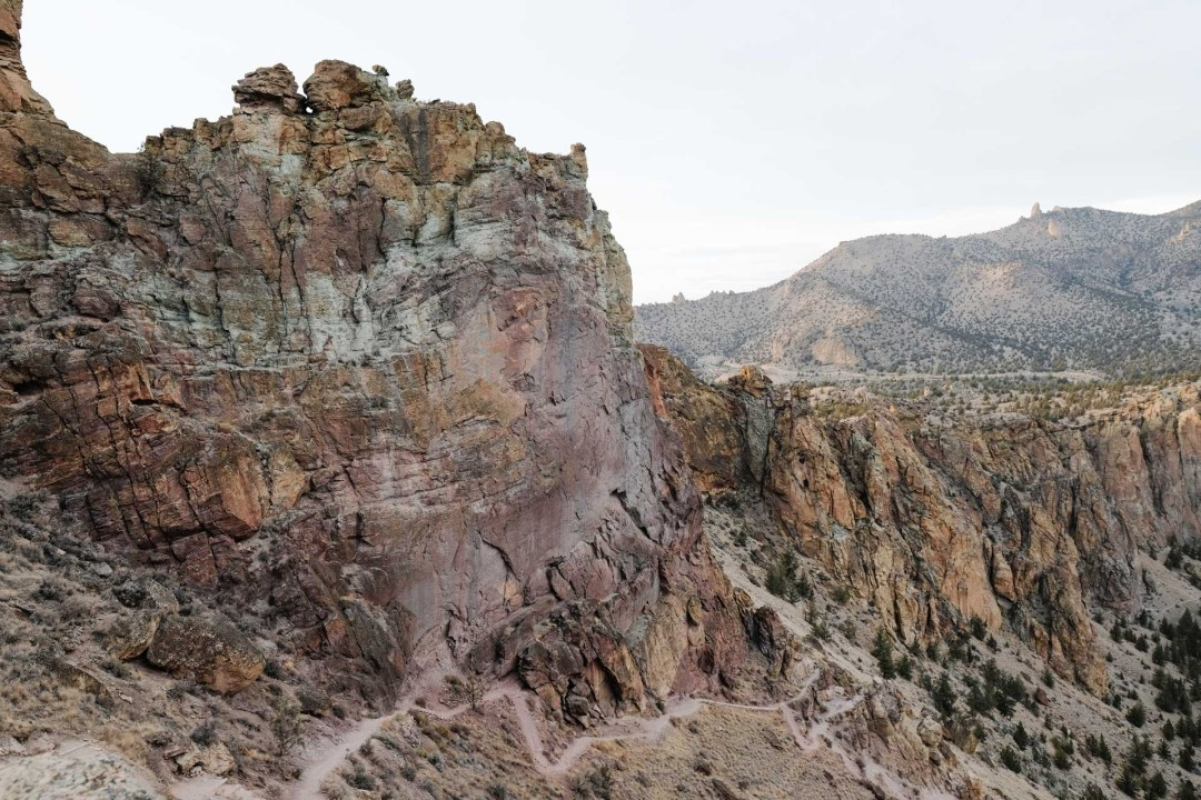 View from the Misery Ridge Trail in Smith Rock State Park