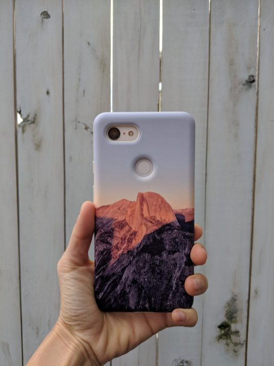 Google Pixel 3XL Not Pink My Case Rear View