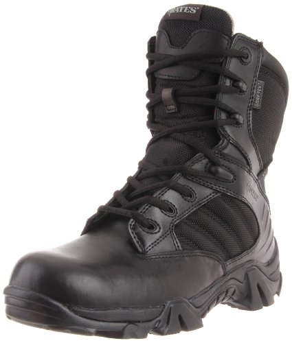Bates Men's Gx-8 GTX Side Zip Combat Boot,Black,11.5 M US