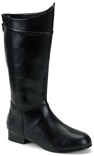 Funtasma Men's Hero 100 Knee High Boots,Black,Medium