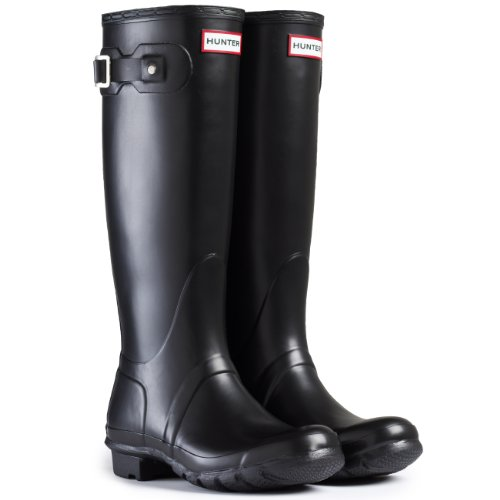 Mens Hunter Wellington Boots Original Tall Rainboots Snow Wellies New – Black – 8