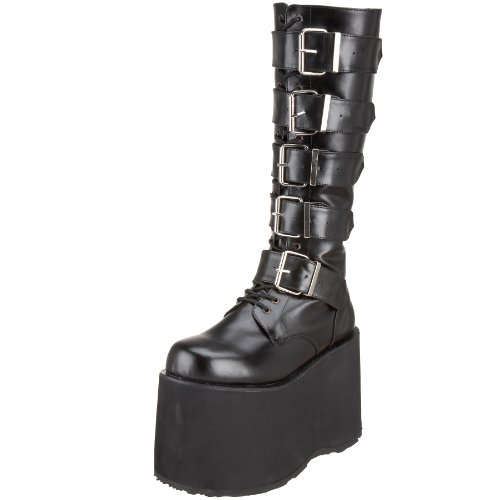Pleaser Men's Mega 602 Lace-Up Boot,Black Polyurethane,9 M US