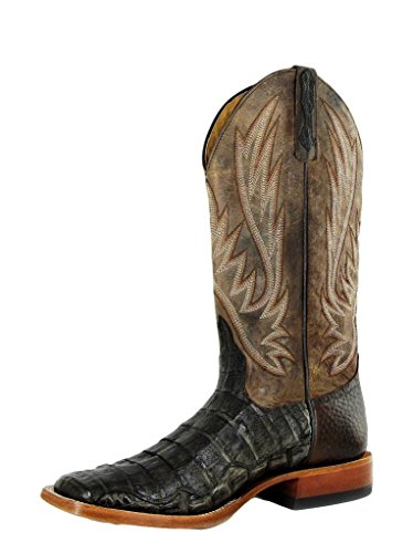 Horse Power Western Boots Mens Caiman Exotic 10.5 D Chocolate HP1769
