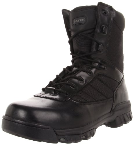 Bates Men's Ultra-Lites 8 Inches Tactical Sport Side Zip Work Boot,Black,12 EW US