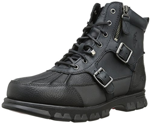 Polo Ralph Lauren Men's Demond Boot,Black/Black,11 D US