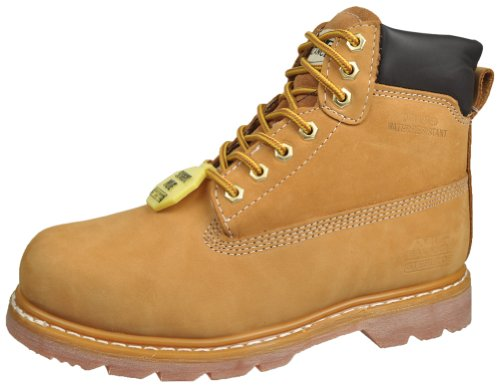 Air Balance Men's Durable Nubuck Leather Steel Toe – Slip Resistant Insulated Work Boots