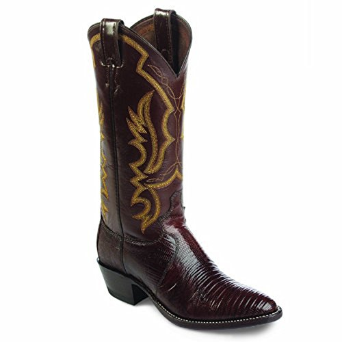 Justin Western Boots Mens Iguana Lizard Leather 11 D Chocolate 8308