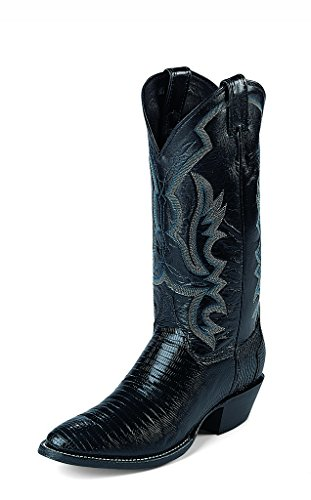 Justin Men's Lizard Cowboy Boot Medium Toe Black 11 D(M) US