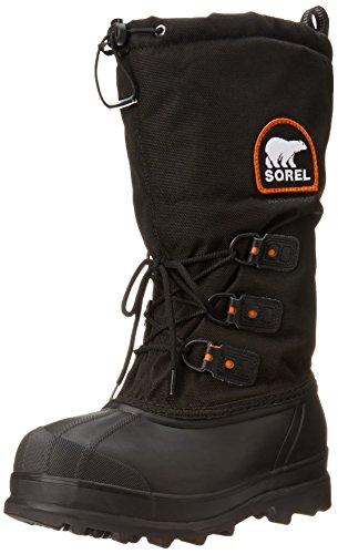 Sorel Men's Glacier Extreme Snow Boot,Black/Red Quartz,9 M US