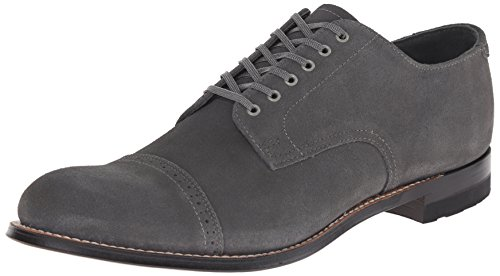 Stacy Adams Men's Madison Oxford, Gray Suede, 9 D US