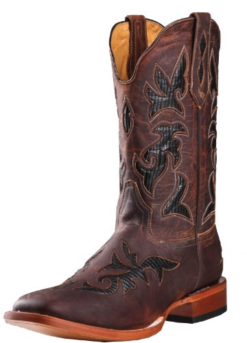 Johnny Ringo Western Boots Mens Thunder Cat 7.5 D Tan Lizard 922-02C