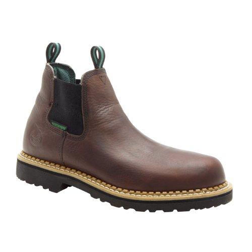 Georgia Mens Soggy Brown Leather Waterproof Steel Toe Romeo Work Boots 11.5 M