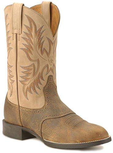 Ariat Mens Heritage Stockman Boot (12 B, Tumbled Brown)