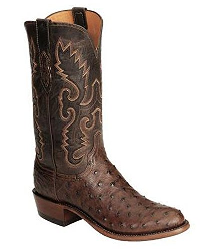 Lucchese N1132.R4 Men's Handcrafted 1883 Full Quill Ostrich Boot, Size (13D-R4)