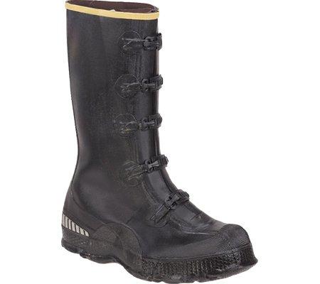 LaCrosse Men's 14″ 5-Buckle Premium Deep Heel Overshoe,Black,10 M US
