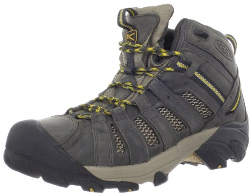 KEEN Men's Voyageur Mid Hiking Boot,Raven/Tawny Olive,7 M US