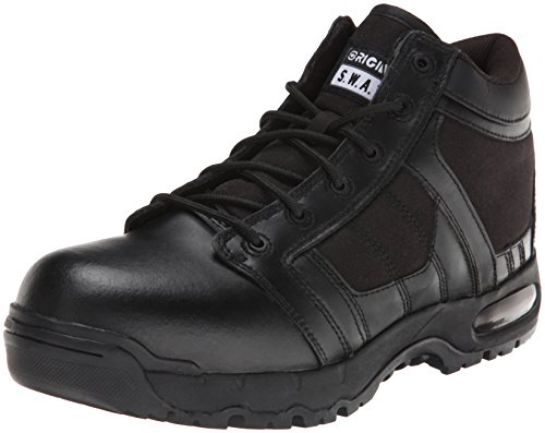 Original S.W.A.T. Men's Metro Air 5 Inch Side-zip Safety Tactical Boot, Black, 10 2E US