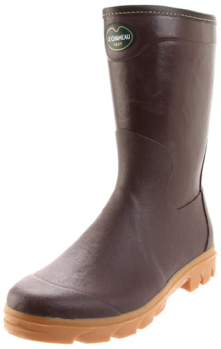 Le Chameau Men's Anjou Botillon Rain Boot,Brown,13 M US