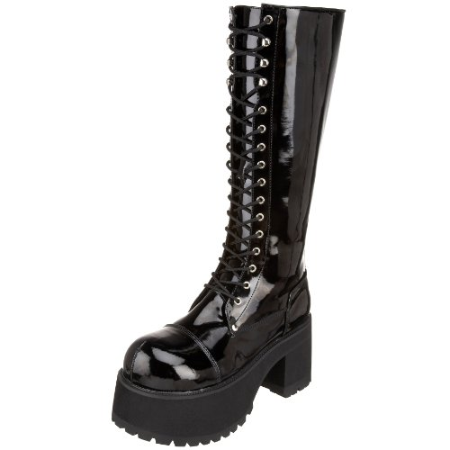 Pleaser Men's Ranger 302 Lace-Up Boot,Black Patent,12 M US