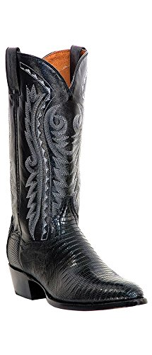Dan Post Men's Teju Lizard Western Boot Medium Toe Black 11 EE US