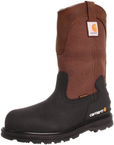 Carhartt Men's CMP1259 11 Mud Well ST Work Boot,Brown/Black Leather,10 W US