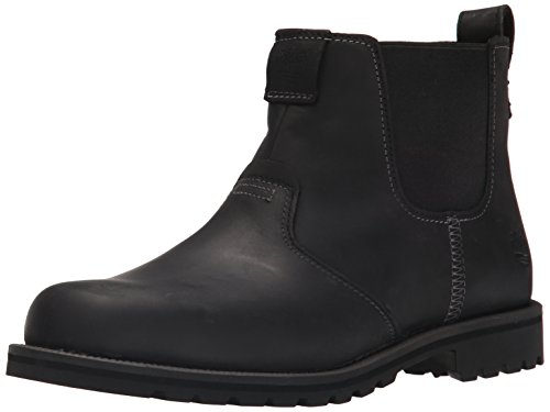Timberland Men's Grantly Chelsea Winter Boot, Black Connection/Suede, 13 M US