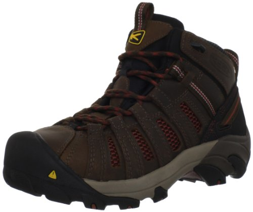 KEEN Utility Men's Flint Mid Work Boot,Slate Black/Burnt Henna,10 D US