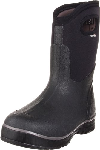 Bogs Men's Ultra Mid Waterproof Winter & Rain Boot,Black,11 M