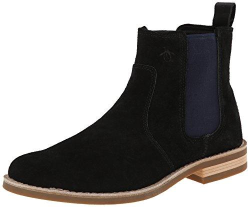 Original Penguin Men's Kris Chelsea Boot, Black/Dress Blues, 13 M US