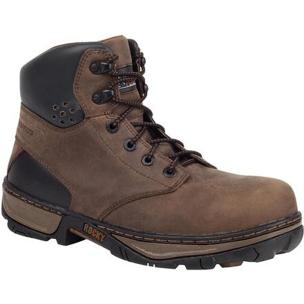 Rocky Men's Forge Waterproof Work Boot Safety Toe Brown US