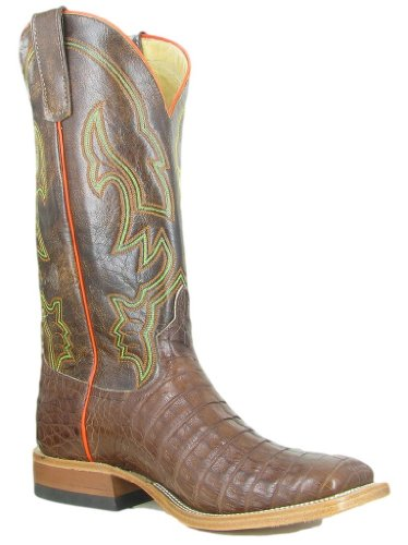 1025c174625 Anderson Bean Western Boots Mens Cowboy Caiman Belly 9 D Tobacco ...