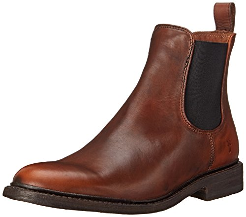 FRYE Men's James Chelsea Boot, Cognac Smooth Vintage Leather, 10.5 M US