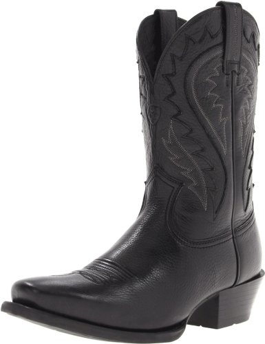 Ariat Men's Legend Phoenix Western Boot, Black Deertan, 8.5 M US