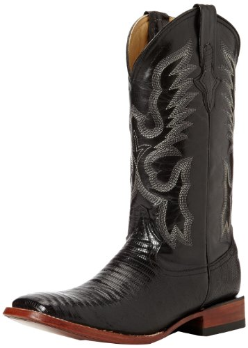 Ferrini Men's Genuine Lizard S-Toe Western Boot,Black,9 EE US
