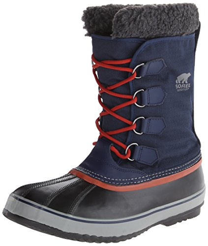 Sorel Men's 1964 Pac Nylon Snow Boot,Collegiate Navy/Grill,13 M US
