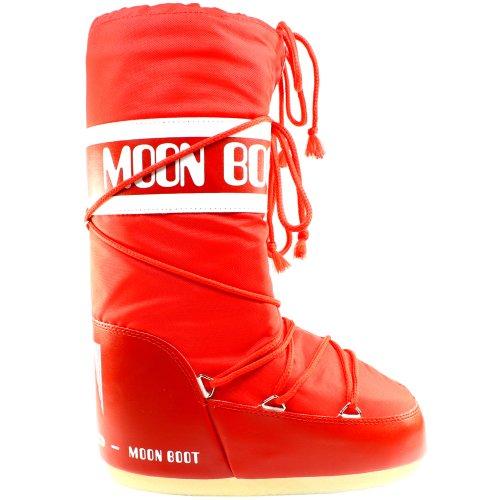 Mens Tecnica Moon Boot Nylon Waterproof Mid Calf Snow Winter Rain Boot – Red – 11-12.5