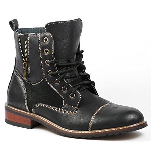 Ferro Aldo MFA-808561 Black Mens Lace up Military Combat Work Desert Ankle Boot