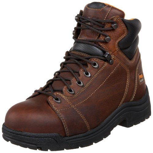 Timberland PRO Men's 50506 Titan 6″ Lace to Toe Safety Toe Boot,Haystack Brown,10.5 W