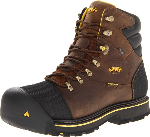 KEEN Utility Men's Milwaukee WP Wide Work Boot,Dark Earth,13 D US