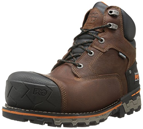 Timberland PRO Men's 6 Inch Boondock Comp Toe WP Insulated Industrial Work Boot,Brown Tumbled Leather,9.5 M US