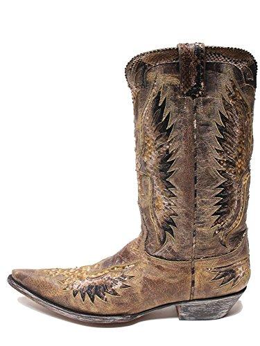 Old Gringo Eagle Python Ochre Bison Mens Boots M105-72