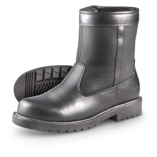 Men's Totes Side – zip Stadium Boots Black, BLACK, 11M