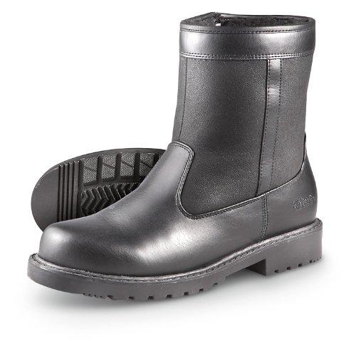 Men's Totes Side – zip Stadium Boots Black, BLACK, 11M