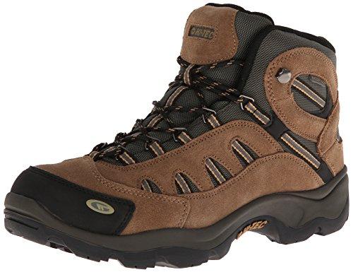 Hi-Tec Men's Bandera Mid WP Hiking Boot,Bone/Brown/Mustard,12 M US