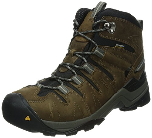 KEEN Men's Gypsum Mid Waterproof Hiking Boot,Dark Earth/Neutral Gray,9 M US