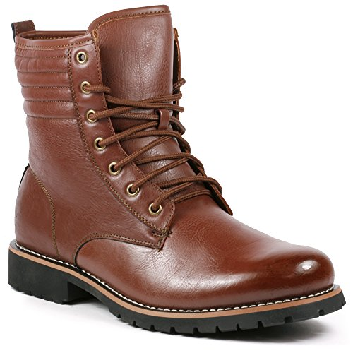 Polar Fox MPX-808568F Men's Brown Lace Up Work Dress Ankle Boot (9.5)