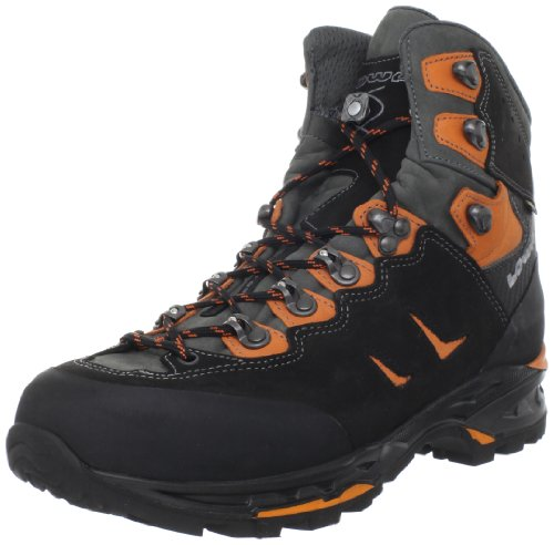 Lowa Men's Camino GTX FreeFlex Hiking Boot,Black/Orange,11 M US
