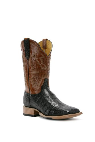 Cinch Men's Cash Western Boot,Black Caiman Belly Jacare,8.5 EE US